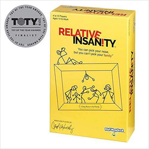 Relative Insanity Party Game About Crazy Relatives-Toy - www.Gifteee.com - Cool Gifts \ Unique Gifts - The Best Gifts for Men, Women and Kids of All Ages