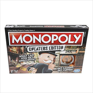 Monopoly Cheaters Edition Family Game-Toy - www.Gifteee.com - Cool Gifts \ Unique Gifts - The Best Gifts for Men, Women and Kids of All Ages
