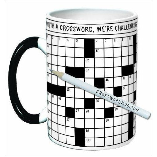 Crossword Puzzle Coffee Mug-Kitchen - www.Gifteee.com - Cool Gifts \ Unique Gifts - The Best Gifts for Men, Women and Kids of All Ages