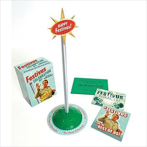 Festivus/Seinfeld: Celebration Kit (Miniature Editions) - Find funny gift ideas, the best gag gifts, gifts for pranksters that will make everybody laugh out loud at Gifteee Cool gifts, Funny gag Gifts for adults and kids