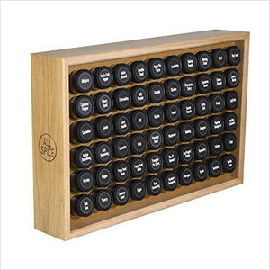 AllSpice Wooden Spice Rack, Includes 60 4oz Jars- Oak-Kitchen - www.Gifteee.com - Cool Gifts \ Unique Gifts - The Best Gifts for Men, Women and Kids of All Ages