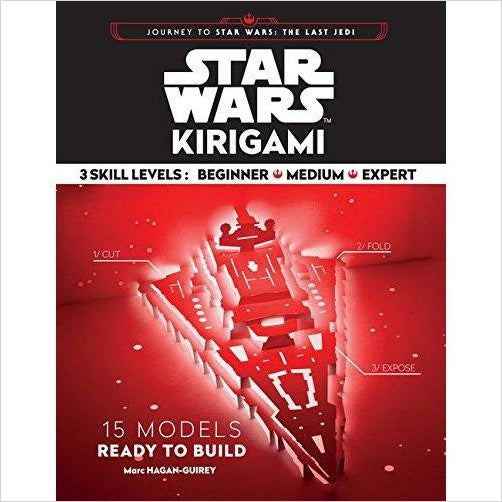Star Wars Kirigami (Journey to Star Wars: the Last Jedi) - Find unique arts and crafts gifts for creative people who love a new hobby or expand a current hobby, art accessories, craft kits and models at Gifteee Cool gifts, Unique Gifts for arts and crafts lovers