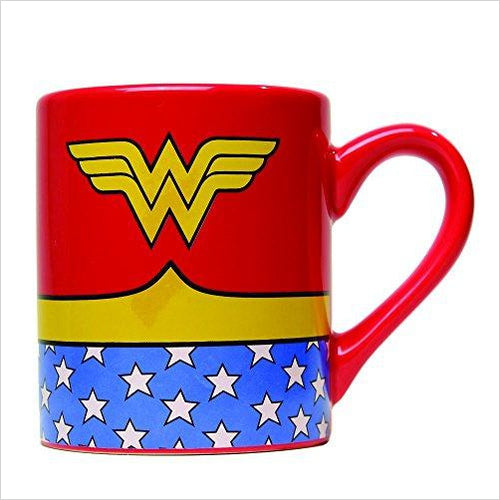 Wonder Woman Ceramic Mug-Kitchen - www.Gifteee.com - Cool Gifts \ Unique Gifts - The Best Gifts for Men, Women and Kids of All Ages