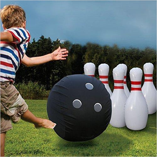 Giant Inflatable Bowling Set-Toy - www.Gifteee.com - Cool Gifts \ Unique Gifts - The Best Gifts for Men, Women and Kids of All Ages