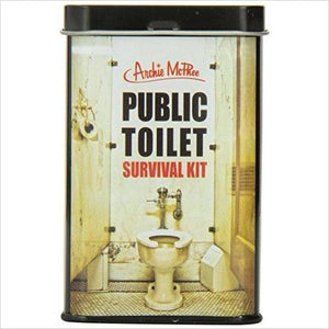 Public Toilet Survival Kit - Find funny gift ideas, the best gag gifts, gifts for pranksters that will make everybody laugh out loud at Gifteee Cool gifts, Funny gag Gifts for adults and kids