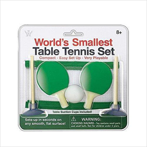 World's Smallest Table Tennis Set - Find the perfect gift for a sport fan, gifts for health fitness fans at Gifteee Cool gifts, Unique Gifts for wellness, sport and fitness