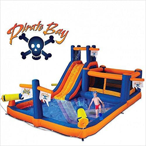 Pirate Bay Inflatable Combo Water Park and Bounce-Toy - www.Gifteee.com - Cool Gifts \ Unique Gifts - The Best Gifts for Men, Women and Kids of All Ages