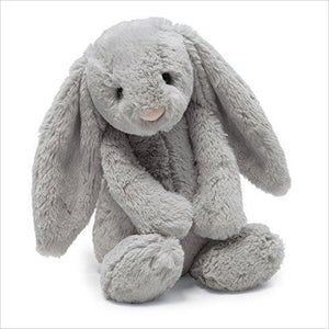 Jellycat Bashful Grey Bunny - Gifteee. Find cool & unique gifts for men, women and kids