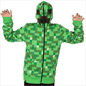 Minecraft Creeper Zip-up Hoodie-Apparel - www.Gifteee.com - Cool Gifts \ Unique Gifts - The Best Gifts for Men, Women and Kids of All Ages