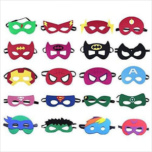 Superheroes Party Masks for Children, 20 Piece-Toy - www.Gifteee.com - Cool Gifts \ Unique Gifts - The Best Gifts for Men, Women and Kids of All Ages