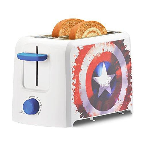 Marvel Captain America Shield 2-Slice Toaster-Kitchen - www.Gifteee.com - Cool Gifts \ Unique Gifts - The Best Gifts for Men, Women and Kids of All Ages