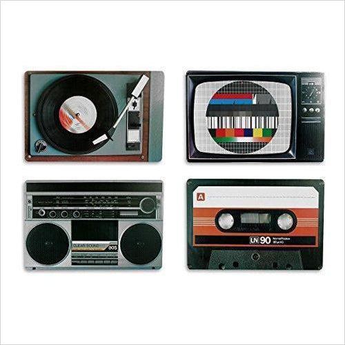Placemat set nostalgia hifi equipment Retro Style-Home - www.Gifteee.com - Cool Gifts \ Unique Gifts - The Best Gifts for Men, Women and Kids of All Ages