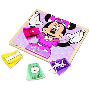 Disney Basic Skills Board - Zip, Lace, Tie, Buckle, Button, and Snap - Find unique gifts for a newborn baby and cool gifts for toddlers ages 0-4 year old, gifts for your kids birthday or Christmas, special baby shower gifts and age reveal gifts at Gifteee Unique Gifts, Cool gifts for babies and toddlers