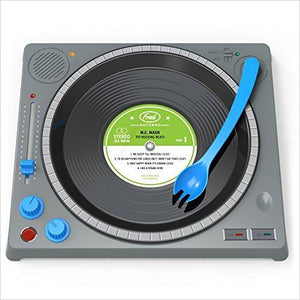 DJ Dining Set - Find unique gifts that will get you kids eating well and eating healthy with unique foodie gifts for kids dinner and the kitchen at Gifteee Cool gifts, Unique Gifts that will make kids enjoy eating