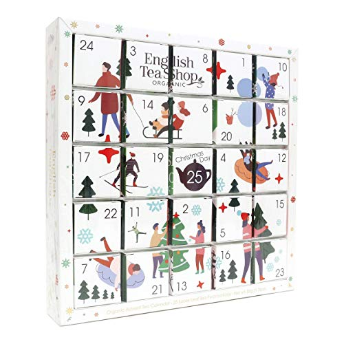 English Tea Shop Organic White Ornaments Advent Calendar Puzzle