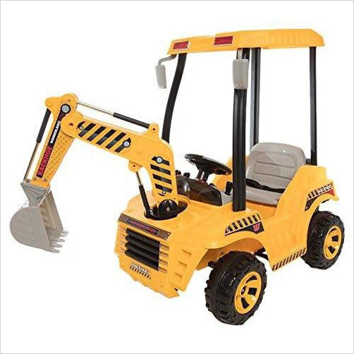 Backhoe, 12V Battery Powered Ride on-Toy - www.Gifteee.com - Cool Gifts \ Unique Gifts - The Best Gifts for Men, Women and Kids of All Ages