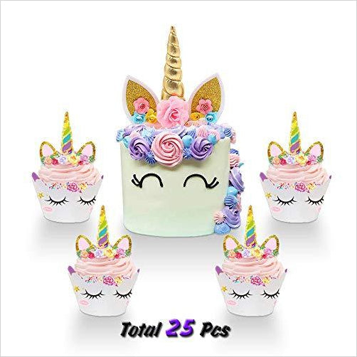 Unicorn Cake Topper-Kitchen - www.Gifteee.com - Cool Gifts \ Unique Gifts - The Best Gifts for Men, Women and Kids of All Ages