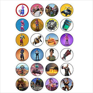 Fortnite Edible Cupcake Toppers-Cupcake Toppers - www.Gifteee.com - Cool Gifts \ Unique Gifts - The Best Gifts for Men, Women and Kids of All Ages