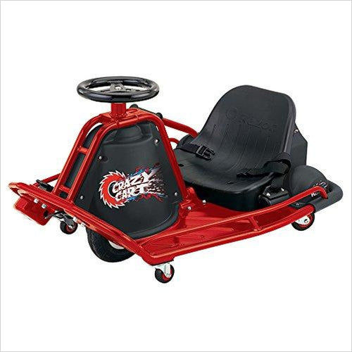 Crazy Cart - Electric 360 Spinning Drifting Kids Ride On Outdoor Go Cart-Sports - www.Gifteee.com - Cool Gifts \ Unique Gifts - The Best Gifts for Men, Women and Kids of All Ages