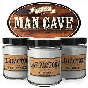 """Man Cave"" Scented Candles-Home - www.Gifteee.com - Cool Gifts \ Unique Gifts - The Best Gifts for Men, Women and Kids of All Ages"