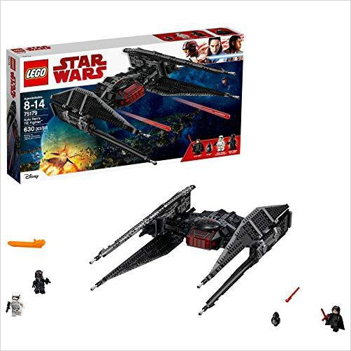 LEGO Star Wars Episode VIII Kylo Ren's Tie Fighter 75179 Building Kit (630 Piece) - Gifteee. Find cool & unique gifts for men, women and kids