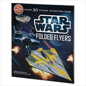 Star Wars Folded Flyers: Make 30 Paper Starfighters Craft Kit - Find unique arts and crafts gifts for creative people who love a new hobby or expand a current hobby, art accessories, craft kits and models at Gifteee Cool gifts, Unique Gifts for arts and crafts lovers