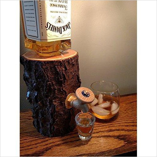 Wood Log Liquor Dispenser-Guild Product - www.Gifteee.com - Cool Gifts \ Unique Gifts - The Best Gifts for Men, Women and Kids of All Ages