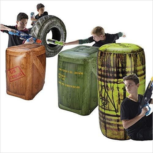 Inflatable Battlezone Battle Royale Set - Find Fortnite Battle Royale and Fortnite Chapter 2 Gifts for Fortnite Fans, and Epic games official gifts at Gifteee Unique Gifts, Cool gifts for kids and gamers