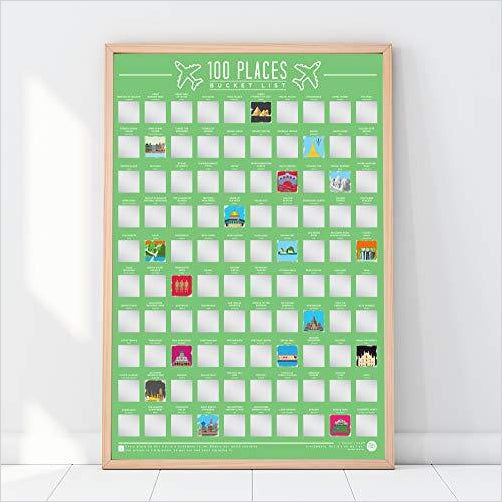 Places Scratch Off Bucket List-Home - www.Gifteee.com - Cool Gifts \ Unique Gifts - The Best Gifts for Men, Women and Kids of All Ages