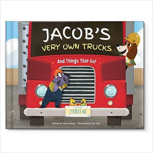 My Very Own Trucks Personalized Book: I See Me! Book-Baby Product - www.Gifteee.com - Cool Gifts \ Unique Gifts - The Best Gifts for Men, Women and Kids of All Ages