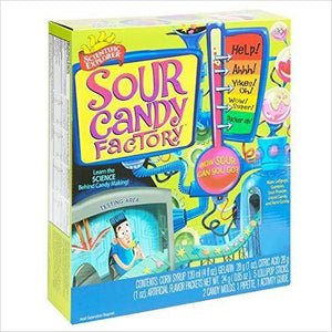 Sour Candy Factory Kit - Find unique STEM gifts find science kits, educational games, environmental gifts and toys for boys and girls at Gifteee Cool gifts, Unique Gifts for science lovers