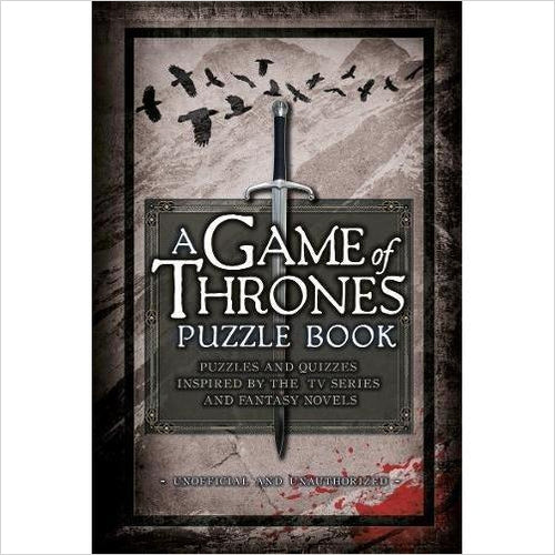 A Game of Thrones Puzzle Book - Gifteee. Find cool & unique gifts for men, women and kids