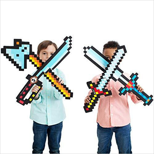Minecraft Diamond Foam Sword Set - Gifteee. Find cool & unique gifts for men, women and kids