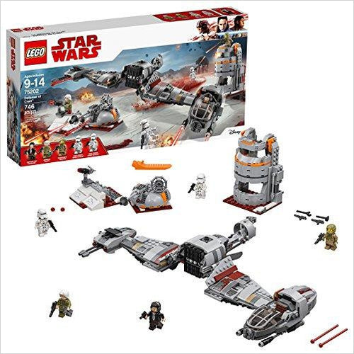 LEGO Star Wars Defense of Crait 75202 - Find unique gifts for Star Wars fans, new star wars games and Star wars LEGO sets, star wars collectibles, star wars gadgets and kitchen accessories at Gifteee Cool gifts, Unique Gifts for Star Wars fans