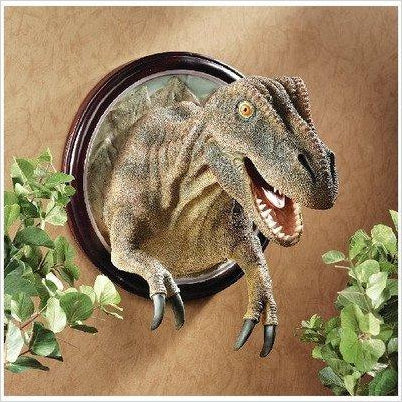 T-Rex Dinosaur Trophy Wall Mount-Home - www.Gifteee.com - Cool Gifts \ Unique Gifts - The Best Gifts for Men, Women and Kids of All Ages