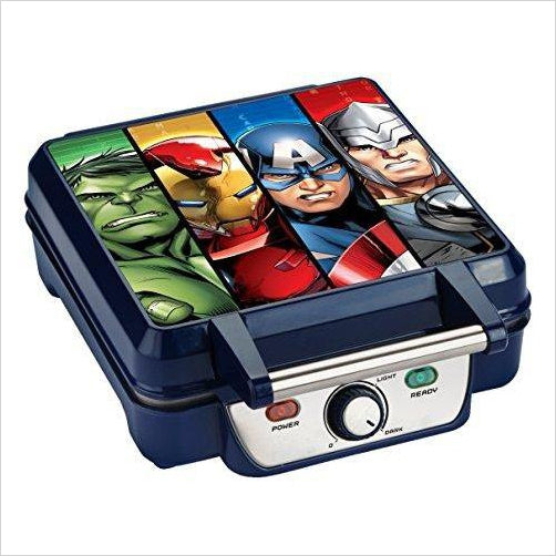 Avengers Waffle Maker - Find unique gifts for superhero fans, the avengers, DC, marvel fans all super villians and super heroes gift ideas, games collectibles and gadgets at Gifteee Cool gifts, Unique Gifts for comic book fans