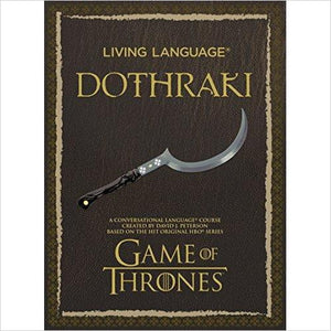 Living Language Dothraki: A Conversational Language Course - Game of Thrones - Gifteee - Unique Gift Ideas for Adults & Kids of all ages. The Best Birthday Gifts & Christmas Gifts.