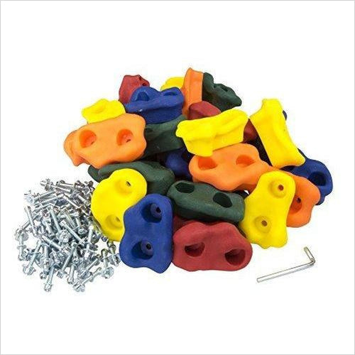 Large Kids Rock Climbing Holds (30 pcs) - Find the perfect gift for a sport fan, gifts for health fitness fans at Gifteee Cool gifts, Unique Gifts for wellness, sport and fitness