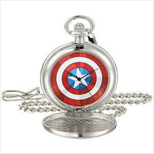 Captain America Analog-Quartz Pocket Watch - Gifteee. Find cool & unique gifts for men, women and kids