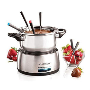 Electric Fondue Pot-Kitchen - www.Gifteee.com - Cool Gifts \ Unique Gifts - The Best Gifts for Men, Women and Kids of All Ages