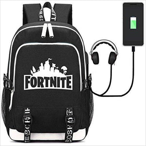 Fortnite Backpack with USB Charging Port-backpack - www.Gifteee.com - Cool Gifts \ Unique Gifts - The Best Gifts for Men, Women and Kids of All Ages