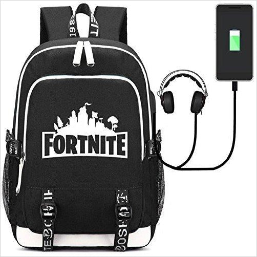 Fortnite Backpack with USB Charging Port - Gifteee - Unique Gift Ideas for Adults & Kids of all ages. The Best Birthday Gifts & Christmas Gifts.