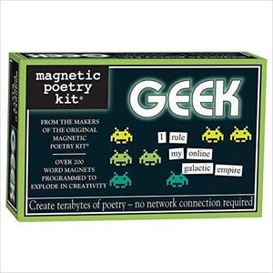Magnetic Poetry - Geek Kit-Toy - www.Gifteee.com - Cool Gifts \ Unique Gifts - The Best Gifts for Men, Women and Kids of All Ages