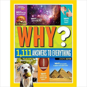 National Geographic Kids Why?: Over 1,111 Answers to Everything - Find unique STEM gifts find science kits, educational games, environmental gifts and toys for boys and girls at Gifteee Cool gifts, Unique Gifts for science lovers