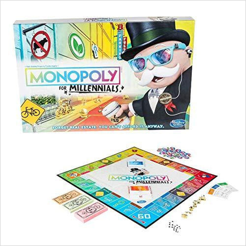 Monopoly for Millenials Board Game-Toy - www.Gifteee.com - Cool Gifts \ Unique Gifts - The Best Gifts for Men, Women and Kids of All Ages