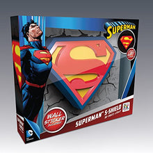 Load image into Gallery viewer, Warner Bros DC Comics Superman Crest 3D Deco Light - Gifteee. Find cool & unique gifts for men, women and kids