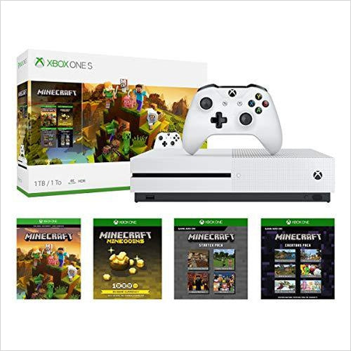 Xbox One S 1TB Console - Minecraft Creators Bundle - Gifteee. Find cool & unique gifts for men, women and kids