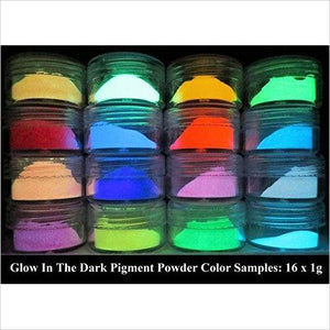 GLOW IN THE DARK PIGMENT POWDER. LONG LASTING-Art and Craft Supply - www.Gifteee.com - Cool Gifts \ Unique Gifts - The Best Gifts for Men, Women and Kids of All Ages
