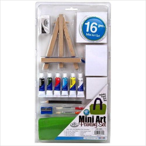 Mini Art Painting Set - Find unique arts and crafts gifts for creative people who love a new hobby or expand a current hobby, art accessories, craft kits and models at Gifteee Cool gifts, Unique Gifts for arts and crafts lovers