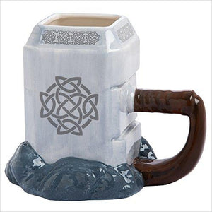 Thor Mjolnir Ceramic Sculpted Mug-Home - www.Gifteee.com - Cool Gifts \ Unique Gifts - The Best Gifts for Men, Women and Kids of All Ages